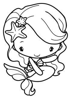 kawaii mermaid coloring pages chibi ariel lineart by nephryl on deviantart kawaii pages mermaid coloring