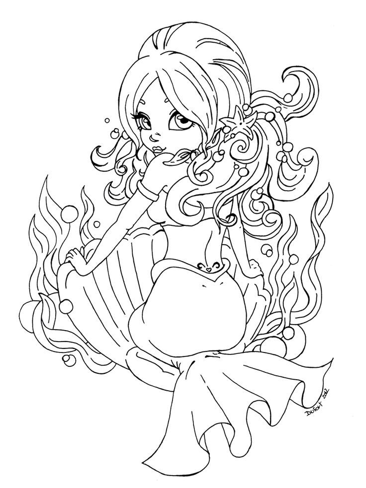kawaii mermaid coloring pages fanart free chibi colouring pages yampuff39s stuff mermaid kawaii coloring pages