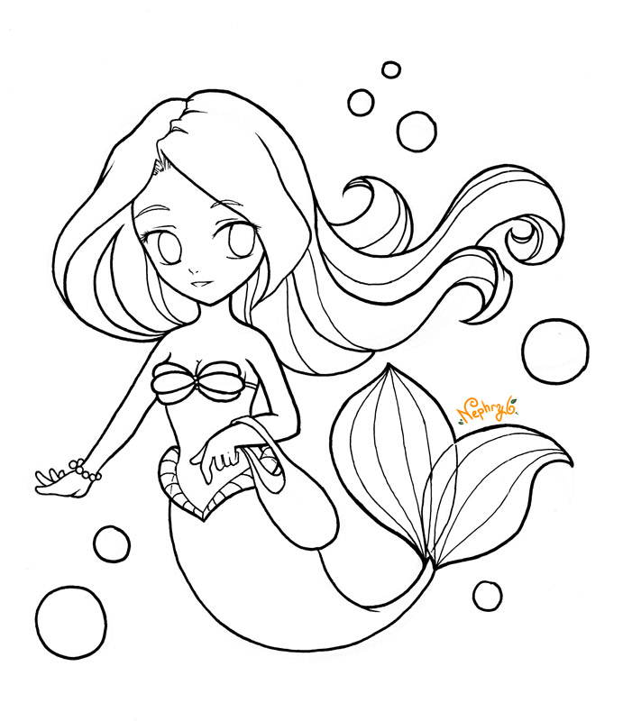 kawaii mermaid coloring pages the little mermaid cute kawaii resources kawaii coloring mermaid pages
