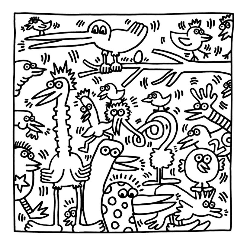 keith haring coloring pages best buddies by keith haring coloring page free haring pages keith coloring