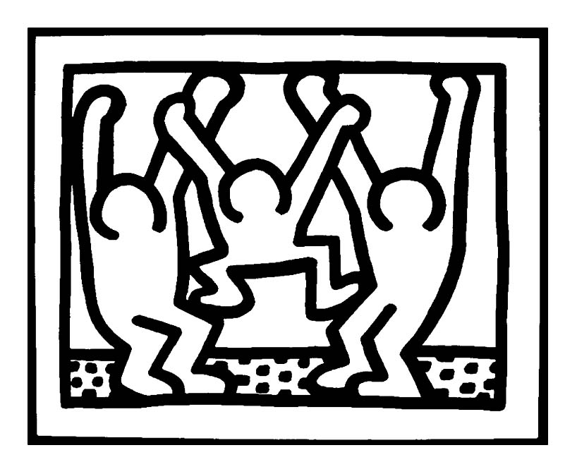 keith haring coloring pages keith haring coloring pages haring coloring pages keith