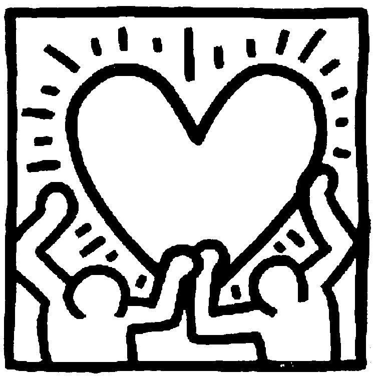 keith haring coloring pages keith haring free to color for children keith haring coloring haring pages keith