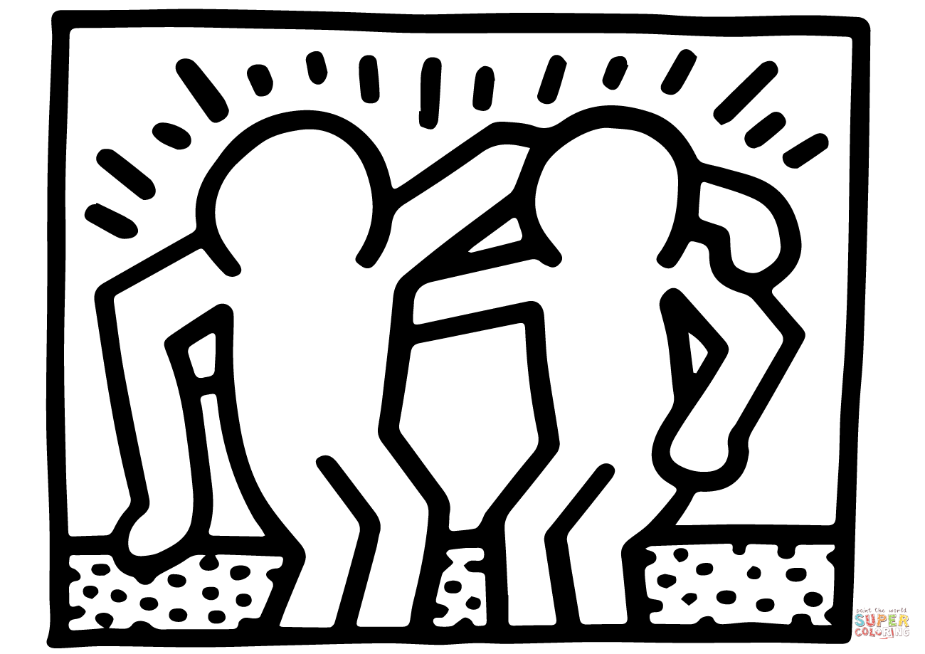 keith haring coloring pages keith haring templates jurjur keith coloring pages haring