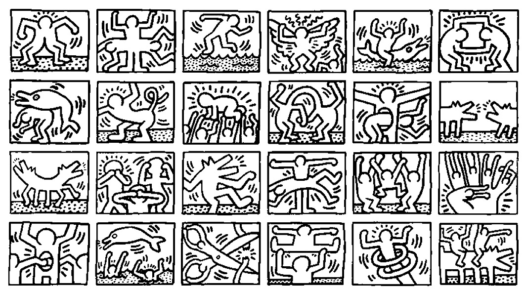 keith haring coloring pages keith haring to color for kids keith haring kids keith pages haring coloring