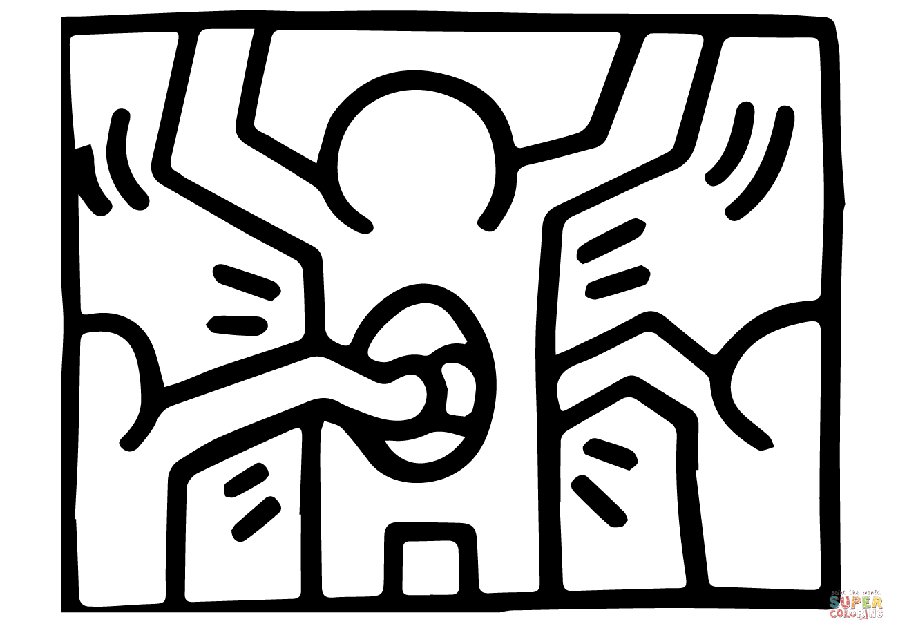 keith haring coloring pages keith haring to color for kids keith haring kids pages coloring keith haring