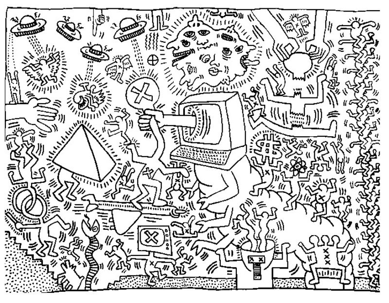 keith haring coloring pages keith haring to print for free keith haring kids coloring haring keith pages