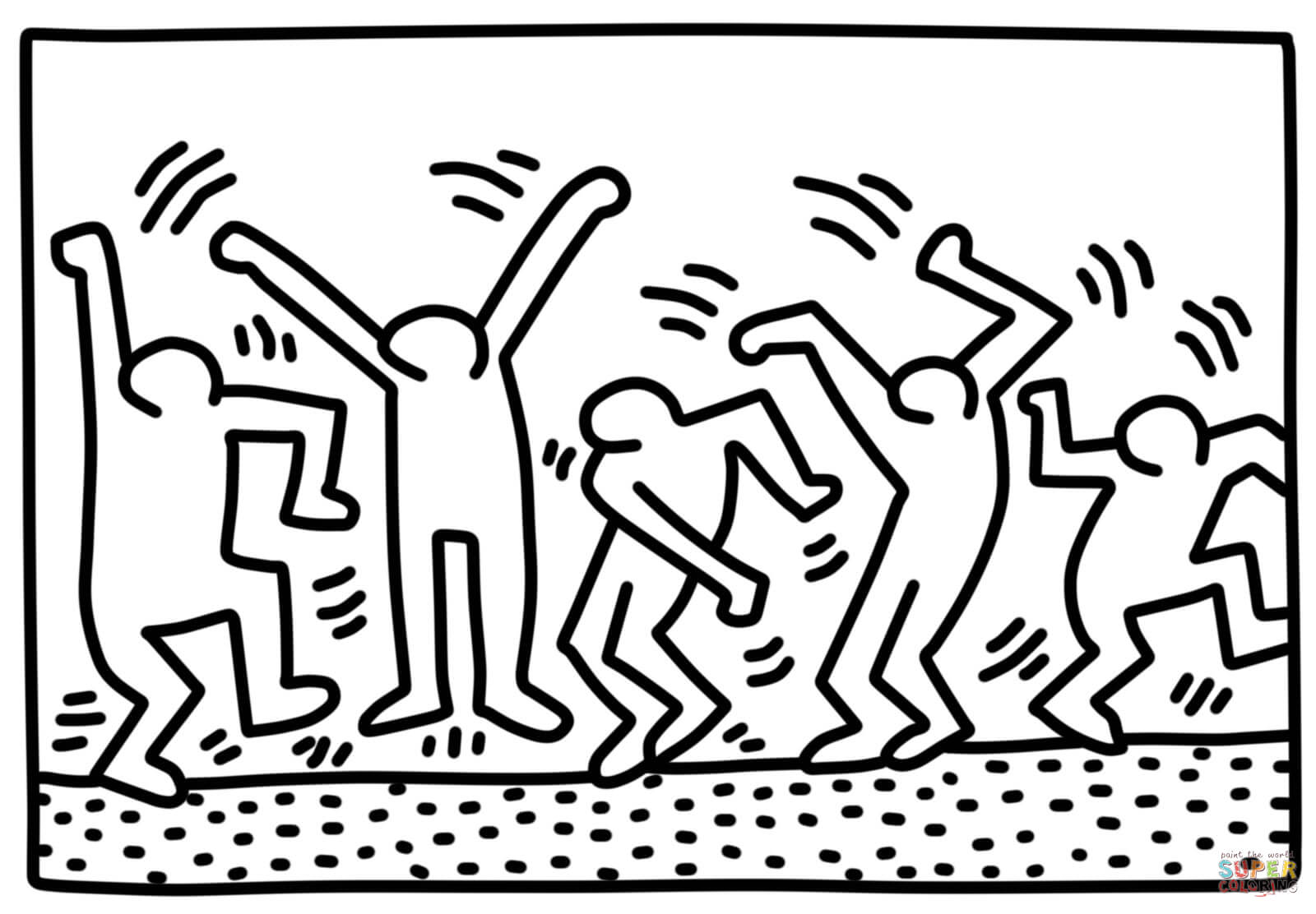 keith haring coloring pages keith haring to print keith haring kids coloring pages coloring keith haring pages