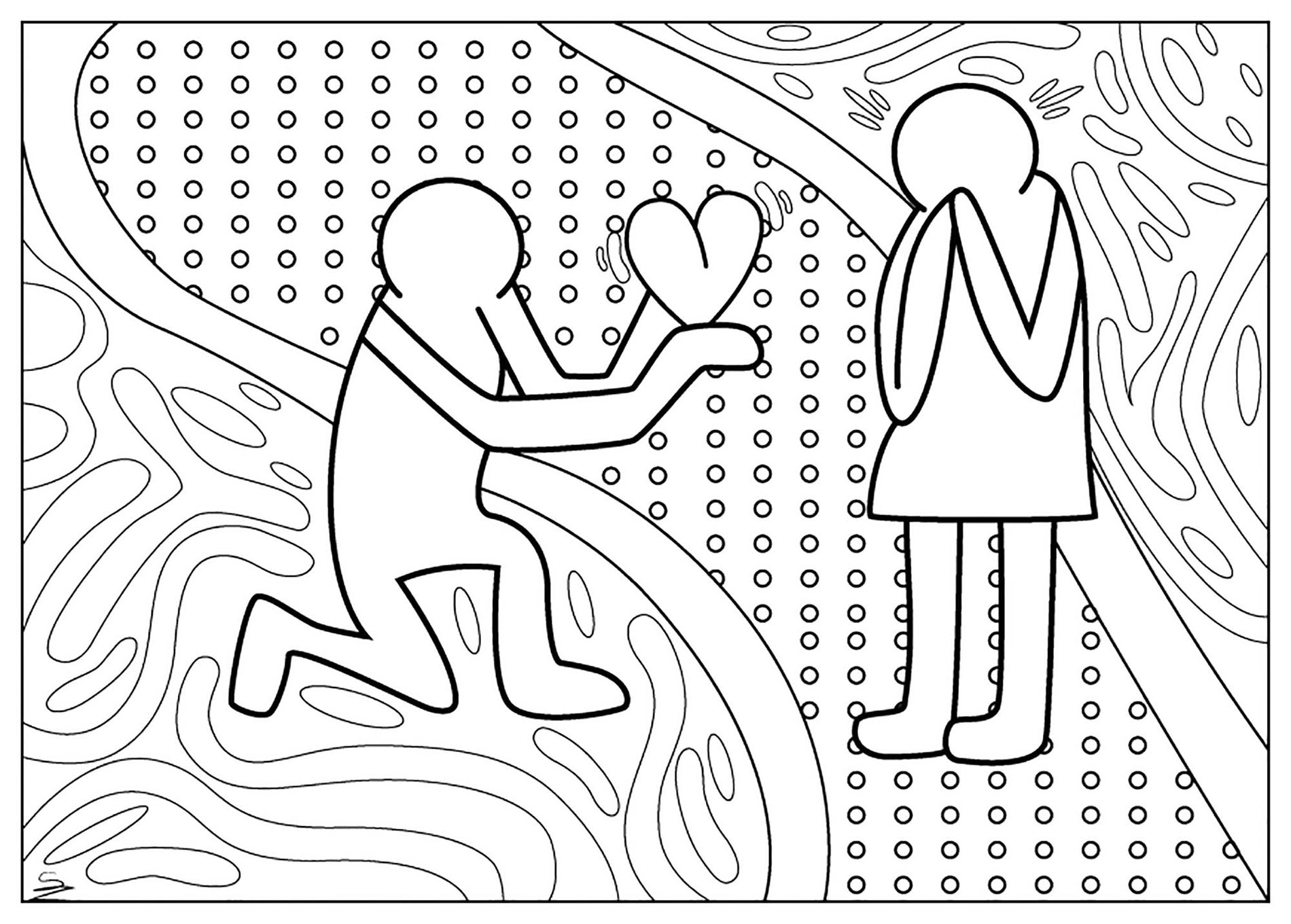 keith haring coloring pages keith haring to print keith haring kids coloring pages pages haring keith coloring