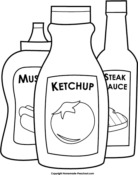 ketchup coloring page the best free ketchup drawing images download from 82 coloring ketchup page
