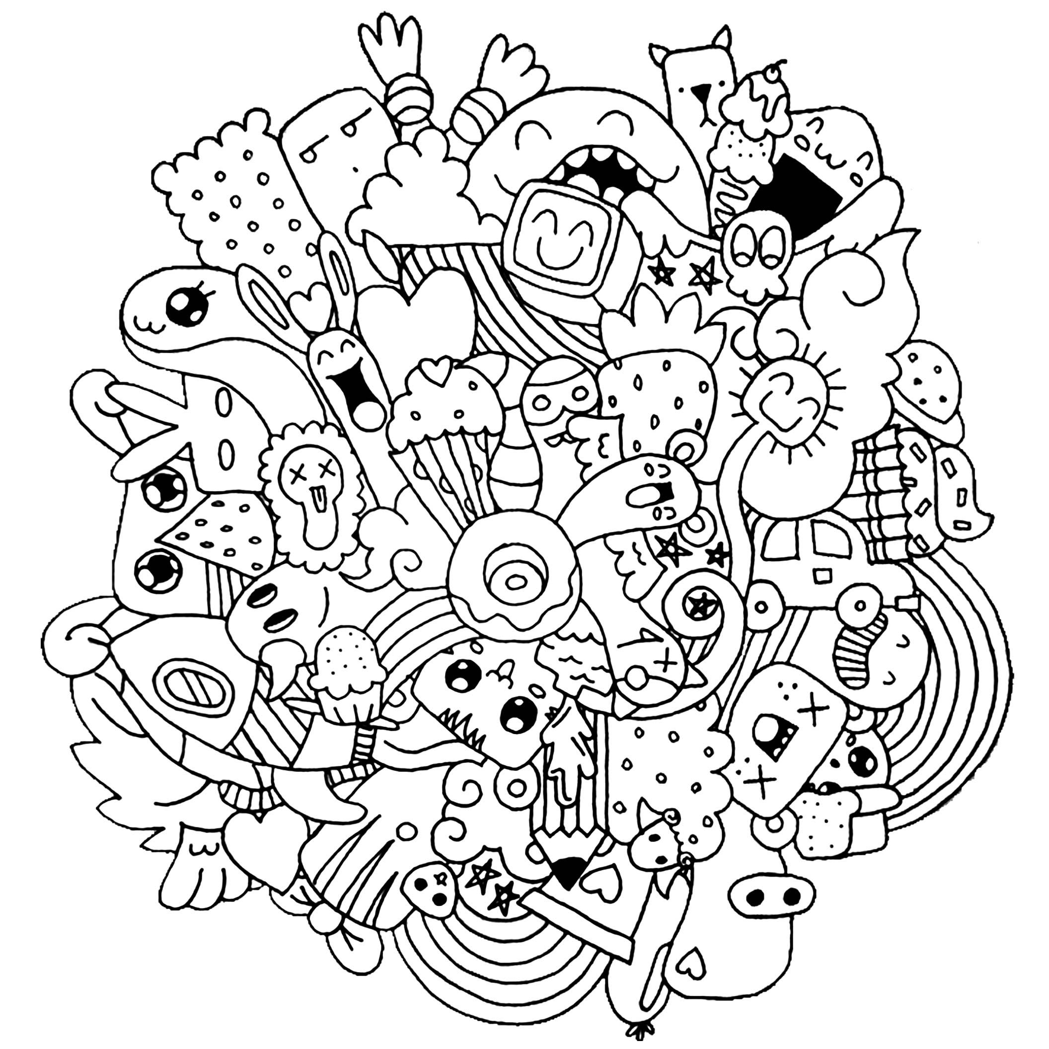 Kids art coloring pages