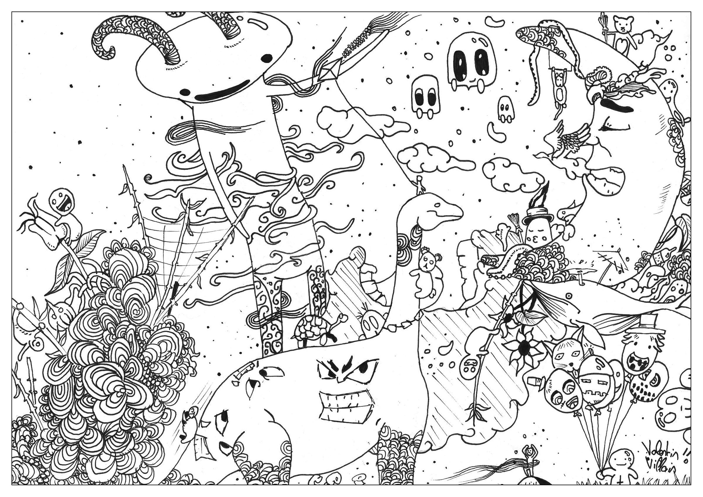 kids art coloring pages doodle art to print for free doodle art kids coloring pages kids coloring art pages