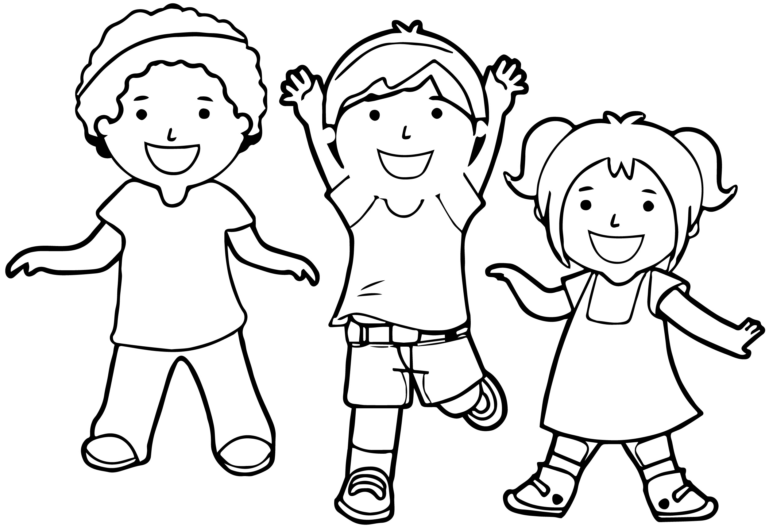 kids coloring together family drawing for preschoolers at getdrawings free download coloring together kids