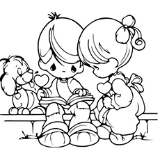 kids coloring together two kids baking cookies together coloring pages best together coloring kids