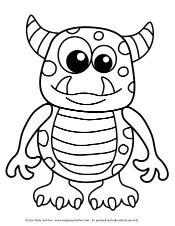 kids monster coloring pages my little monster free colouring pages pages kids monster coloring