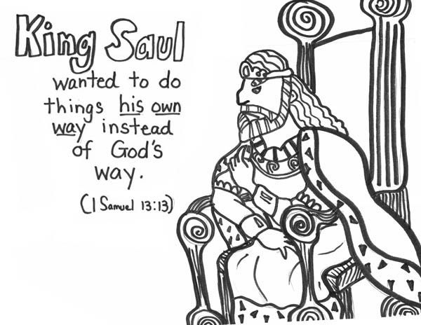 king saul coloring page 24 best king saul disobeys god images on pinterest bible saul king page coloring