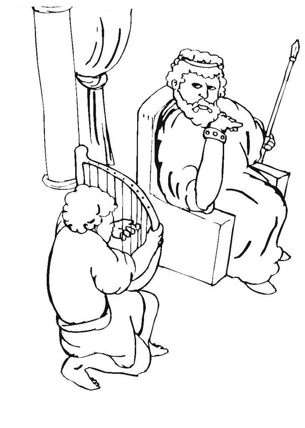 king saul coloring page david plays harp for king saul coloring page netart coloring page saul king