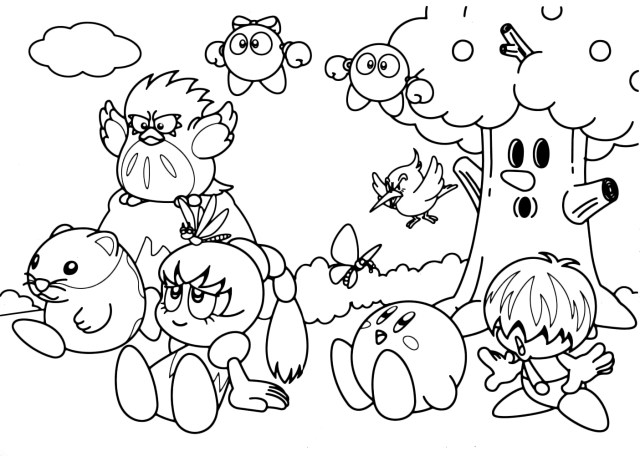 kirby for coloring printable kirby coloring pages for kids coloring for kirby