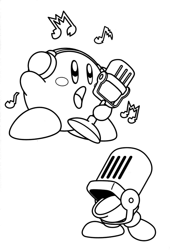 kirby for coloring printable kirby coloring pages for kids cool2bkids for coloring kirby 1 1