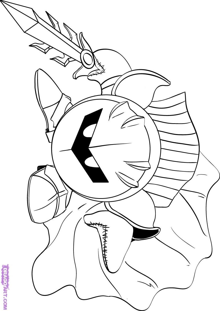 kirby star allies coloring pages coloriage fr coloriage de kirby et meta knight pages allies coloring kirby star