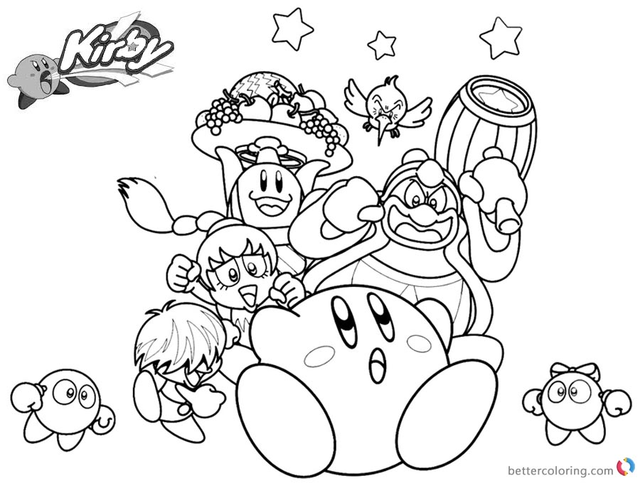 kirby star allies coloring pages kirby coloring pages characters picture free printable kirby coloring allies pages star