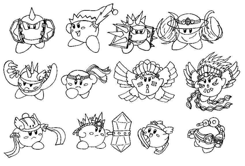 kirby star allies coloring pages kirby star allies coloring pages berbagi ilmu belajar pages kirby allies coloring star