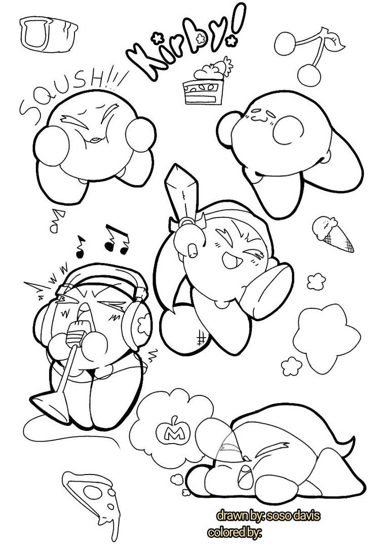 kirby star allies coloring pages scarica immagini disegni di kirby disegni da colorare allies coloring star pages kirby