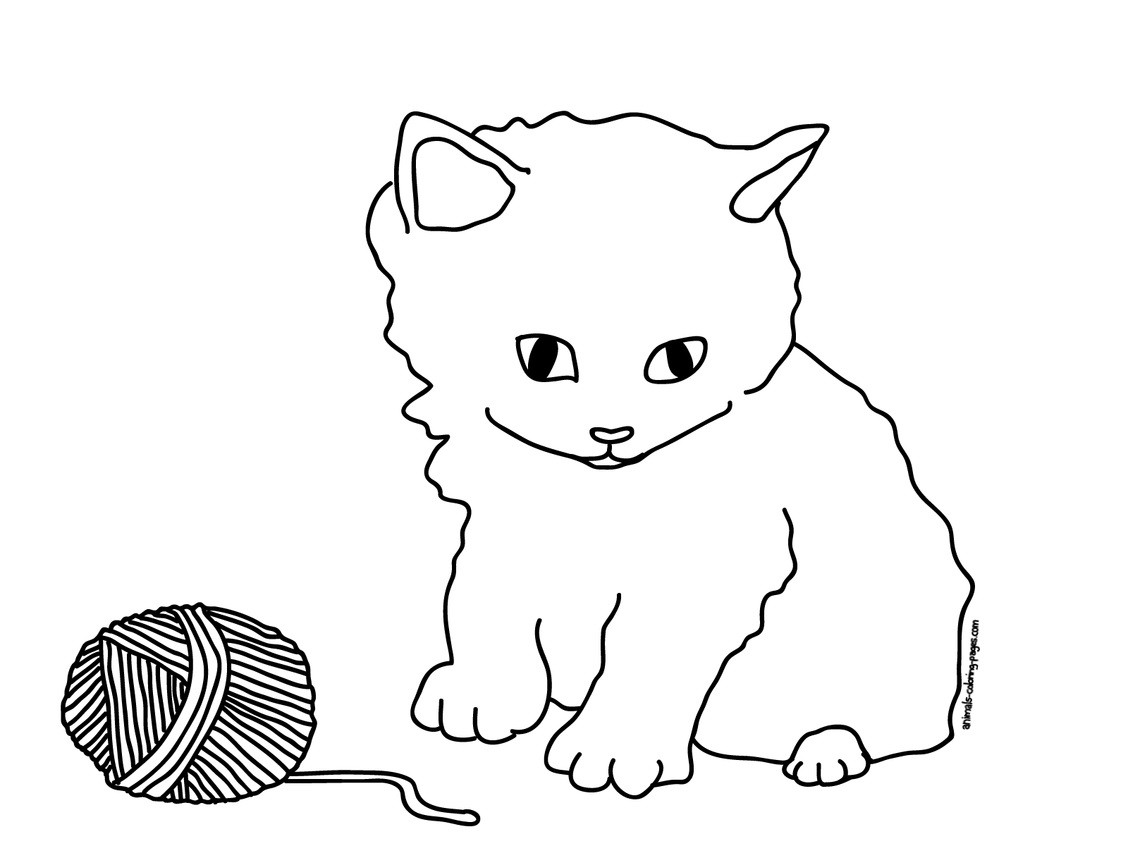kitten color page coloring pages cats and kittens coloring pages free and page kitten color