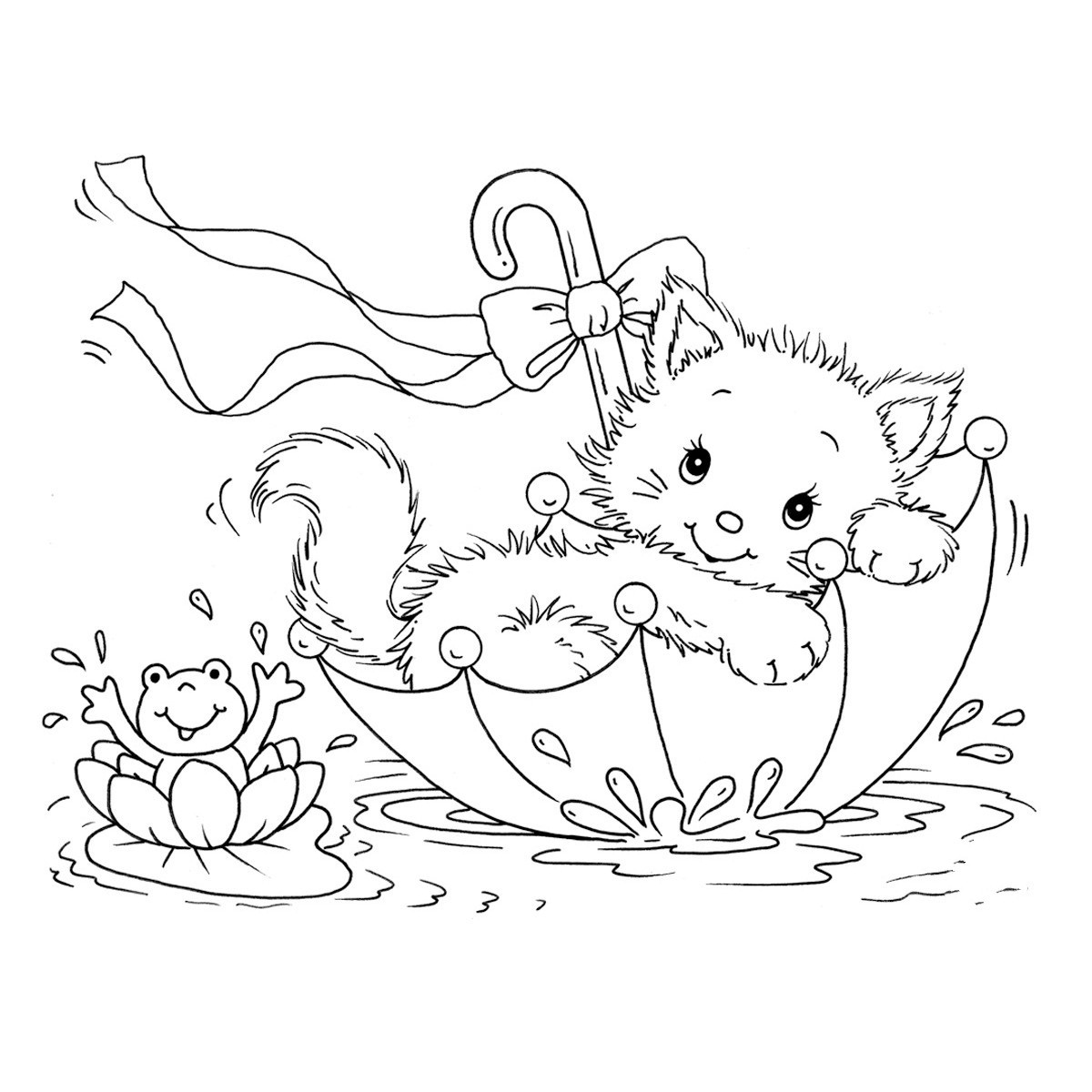 kitten color page free printable cat coloring pages for kids color page kitten