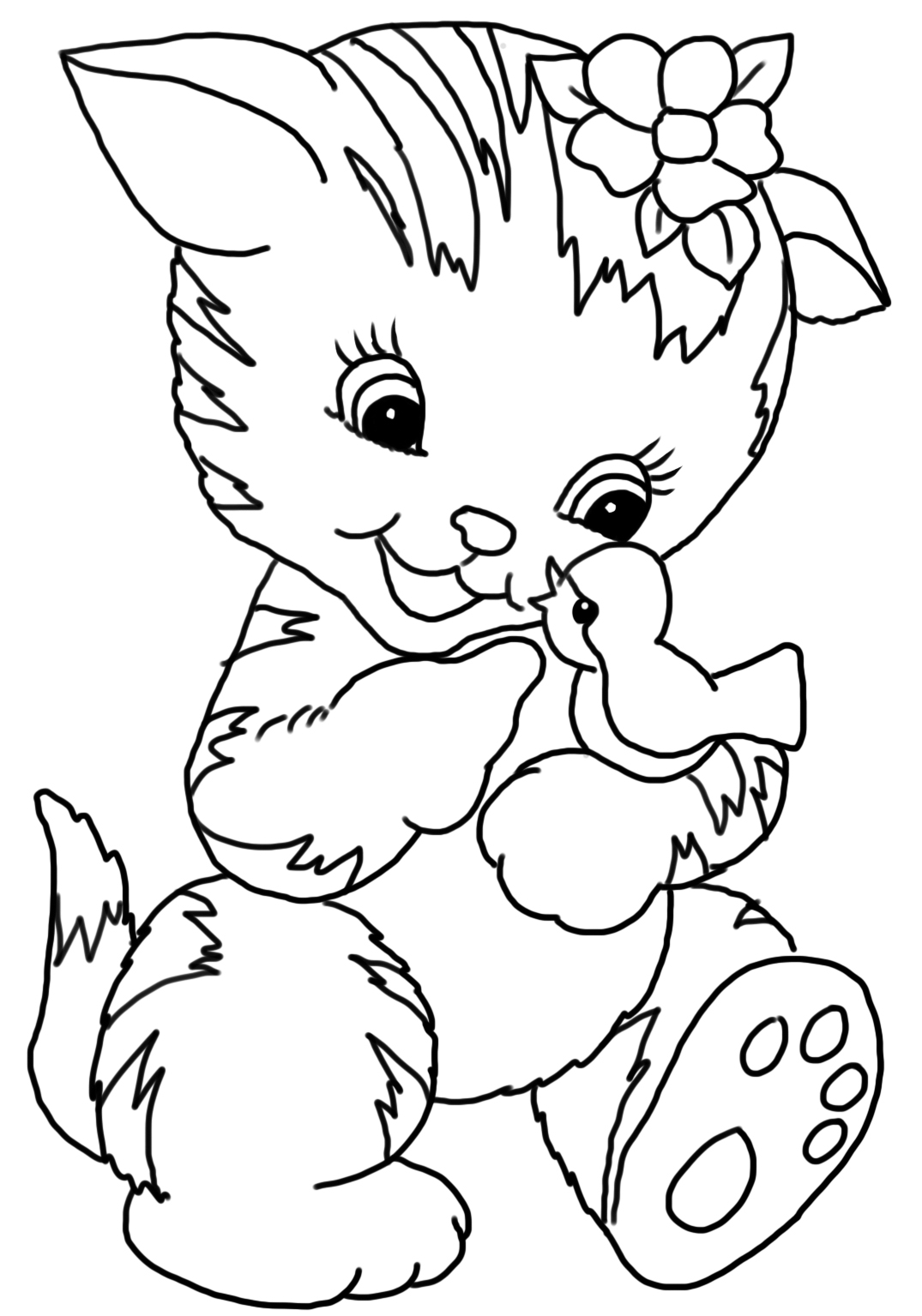 kitten color page kitten coloring pages color kitten page