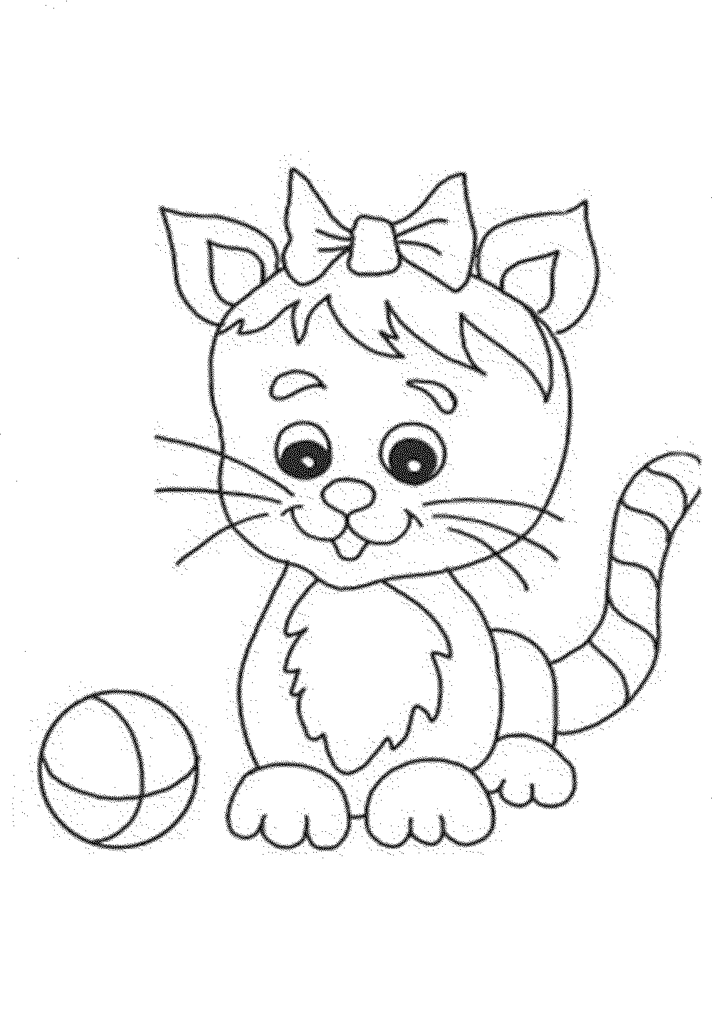 kitten color page print download the benefit of cat coloring pages color page kitten