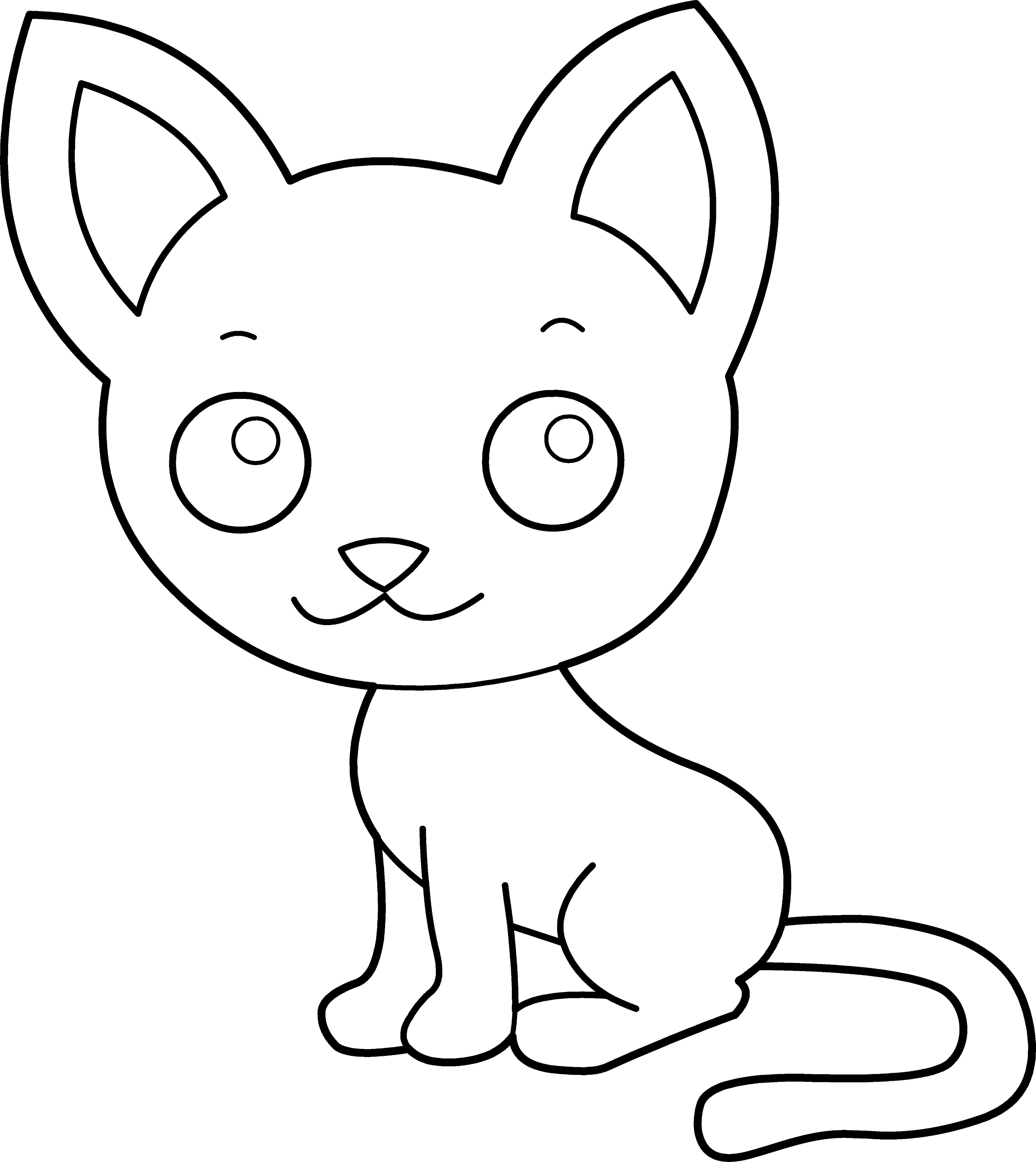 kitty cat printable coloring pages kitty cat a beautiful female kitty cat in girly posture cat pages coloring printable kitty