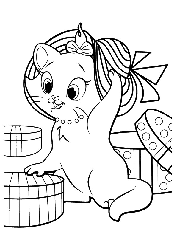 kitty pictures to color cute kitten in basket of shamrock coloring page free pictures to kitty color