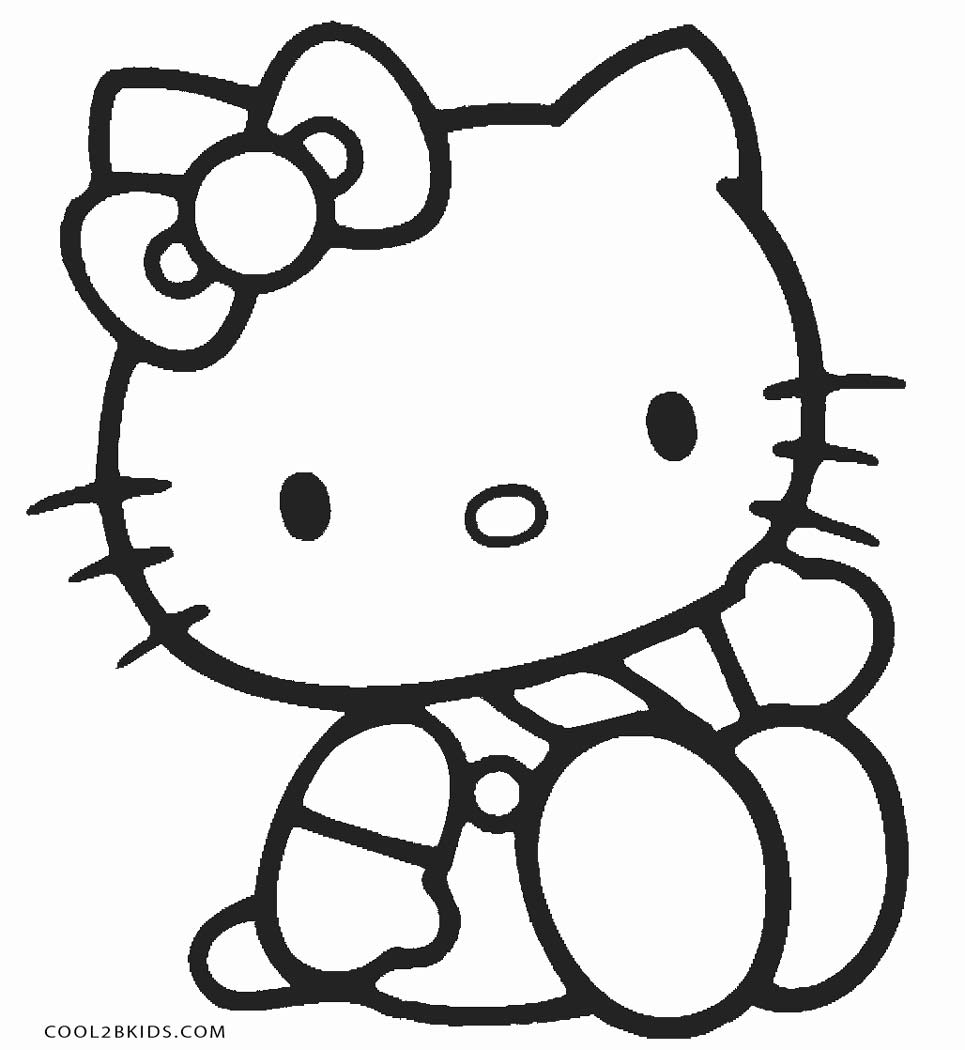 kitty pictures to color free printable cat coloring pages for kids kitty color pictures to