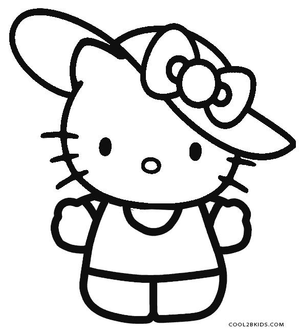 kitty pictures to color free printable hello kitty coloring pages for pages color to kitty pictures
