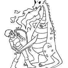 knight fighting dragon coloring page always learning give more praise fighting coloring dragon page knight