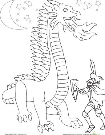knight fighting dragon coloring page dragonfightfrontjpg 15001600 saint george and the dragon fighting knight page coloring