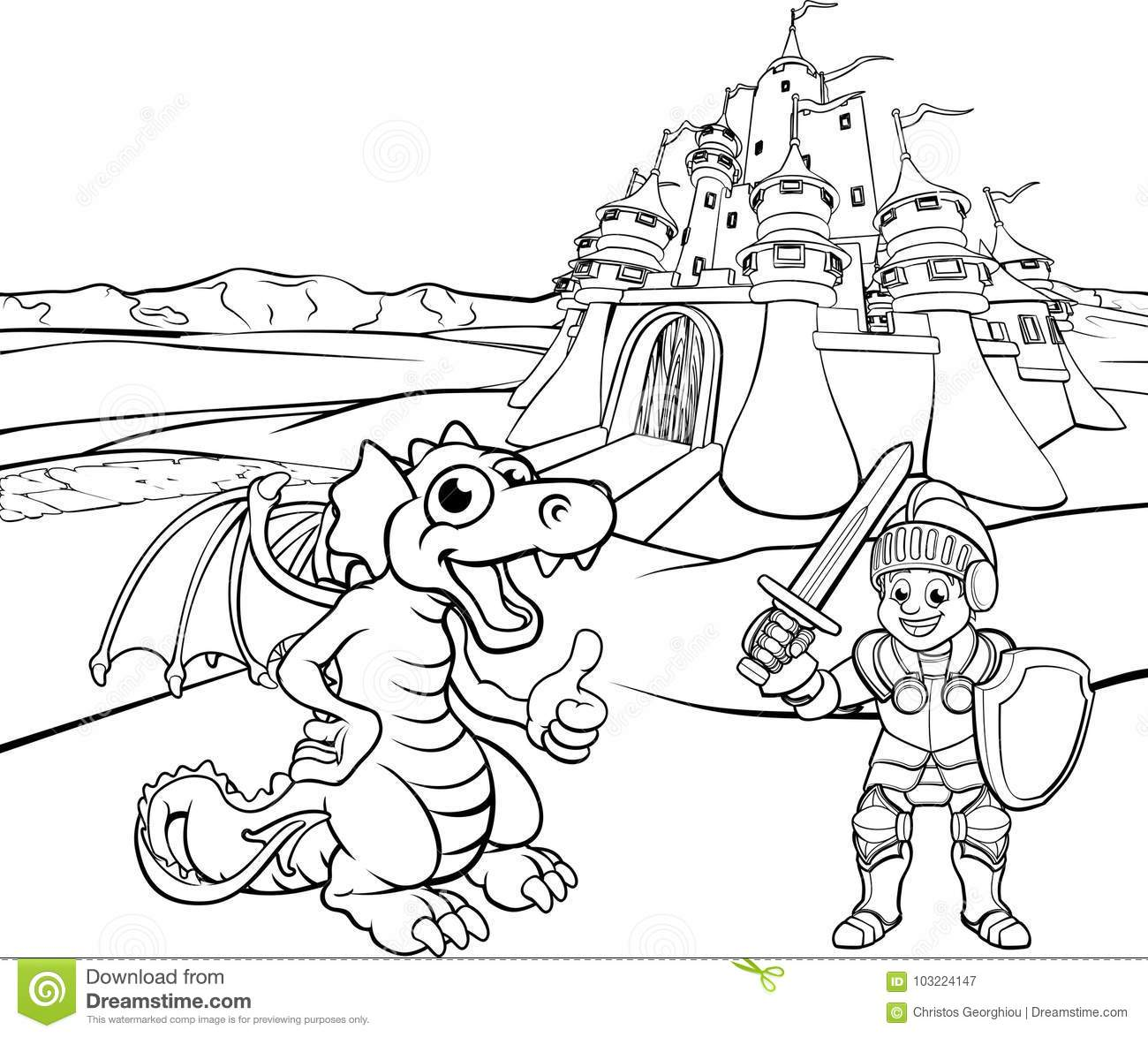 knight fighting dragon coloring page fight with the dragon ludwig richter knight battle page dragon fighting coloring knight