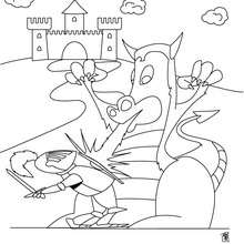 knight fighting dragon coloring page knight fighting dragon coloring pages fighting coloring knight dragon page