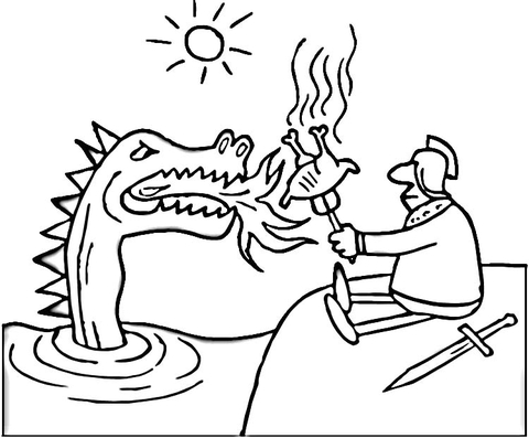 knight fighting dragon coloring page knight fighting dragon coloring pages fighting dragon coloring knight page