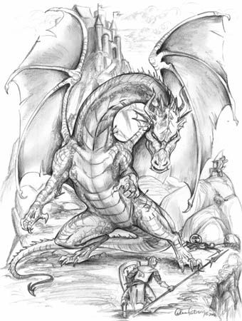 knight fighting dragon coloring page knights fighting dragons pictures google search dragon fighting knight coloring page dragon