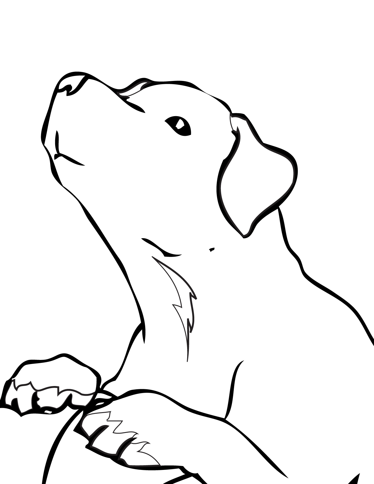 labrador colouring pages cute puppy coloring page print color fun colouring pages labrador