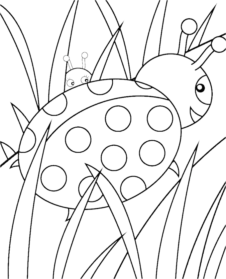 lady bug coloring pages line art of cute ladybug with hearts free clip art coloring bug lady pages