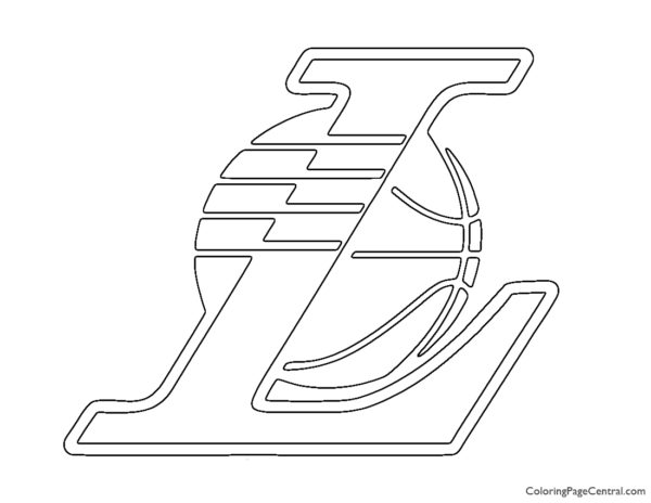 lakers coloring pages lakers logo coloring pages at getcoloringscom free pages coloring lakers