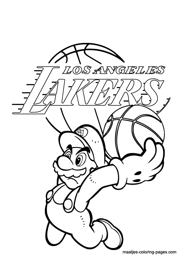 lakers coloring pages lakers logo drawing at getdrawings free download coloring pages lakers