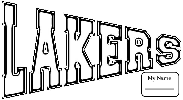 lakers coloring pages lakers logo drawing at getdrawings free download lakers coloring pages