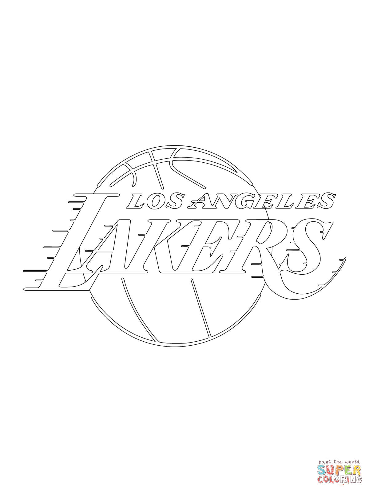 lakers coloring pages los angeles lakers coloring page free nba coloring pages lakers coloring pages