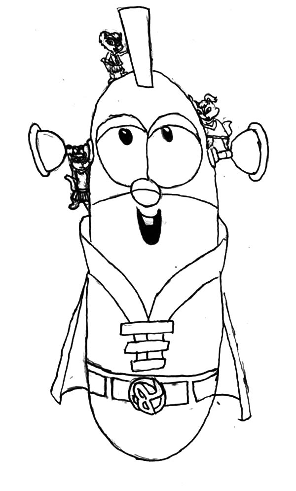 Larry boy coloring pages