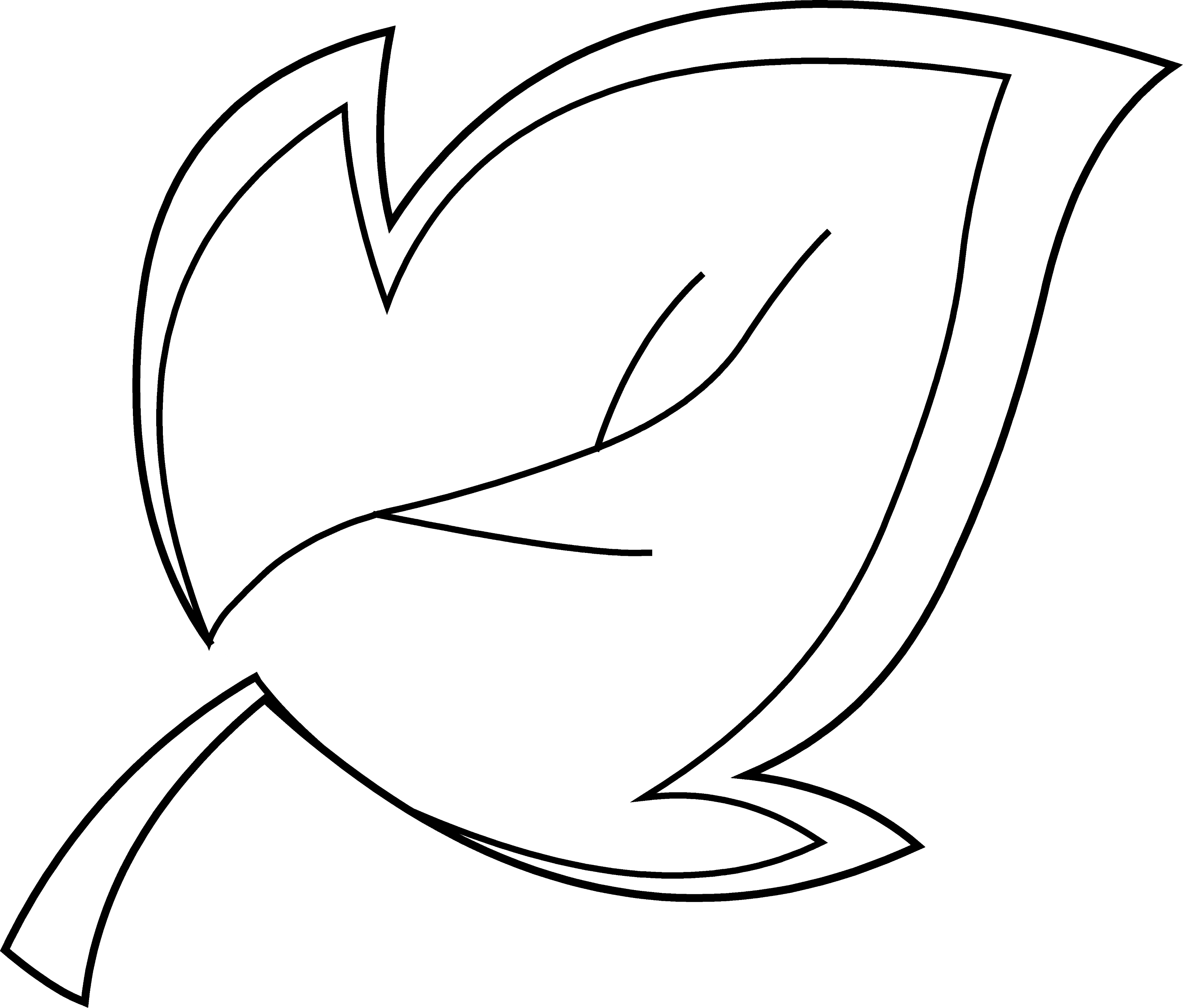 Leaf clipart coloring
