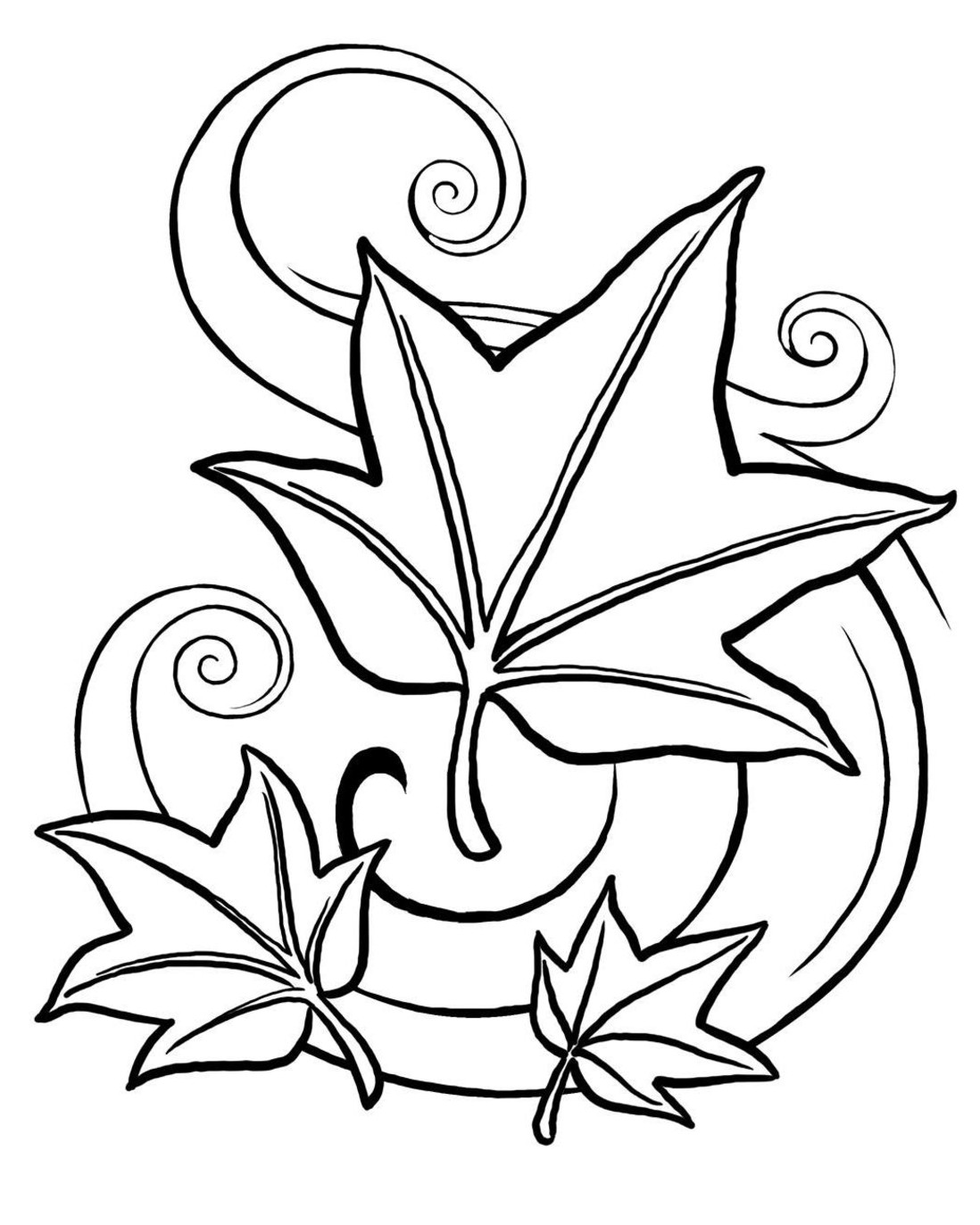 leaf coloring pages fall leaves coloring pages for kindergarten at coloring pages leaf
