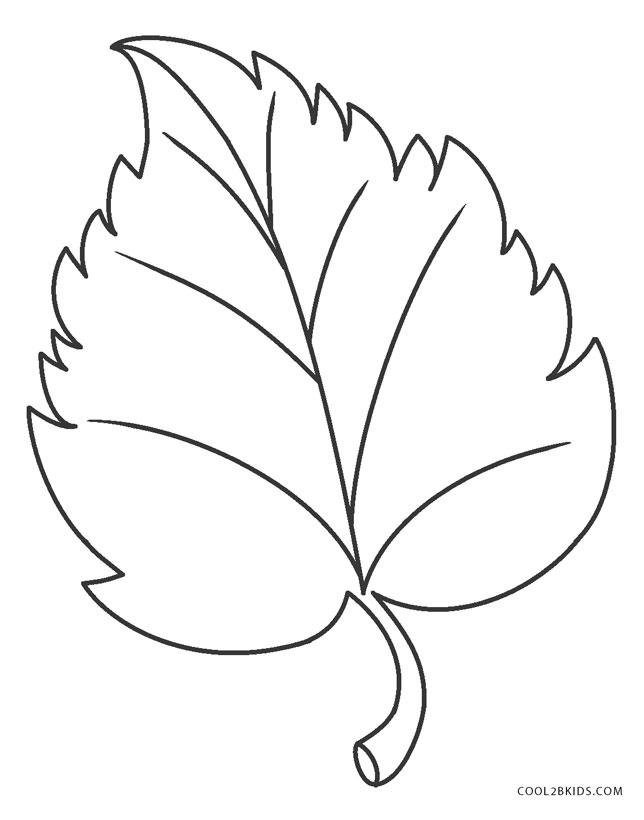 leaf for coloring autumn coloring pages getcoloringpagescom leaf coloring for